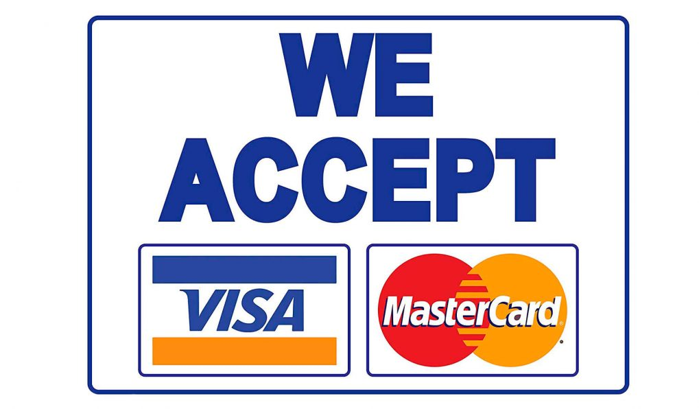 We accept payments by Visa and MasterCard